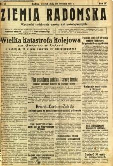 Ziemia Radomska, 1931, R. 4, nr 15