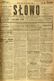 Słowo, 1923, R. 2, nr 263