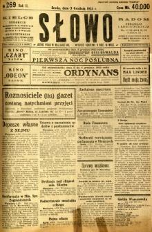 Słowo, 1923, R. 2, nr 269