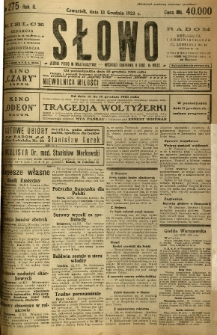 Słowo, 1923, R. 2, nr 275