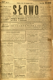 Słowo, 1923, R. 2, nr 287