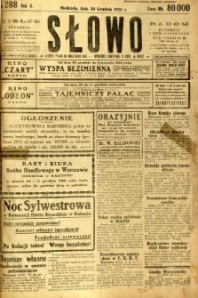 Słowo, 1923, R. 2, nr 288