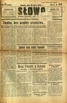 Słowo, 1930. R. 9, nr 169