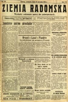 Ziemia Radomska, 1931, R. 4, nr 20