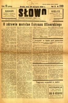 Słowo, 1930. R. 9, nr 190