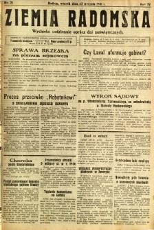 Ziemia Radomska, 1931, R. 4, nr 21