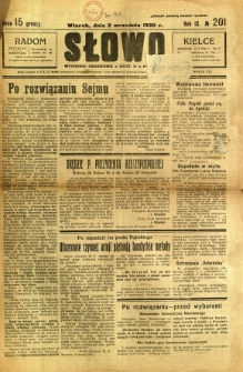 Słowo, 1930. R. 9, nr 201