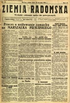 Ziemia Radomska, 1931, R. 4, nr 25