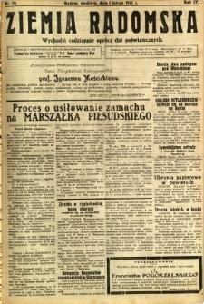 Ziemia Radomska, 1931, R. 4, nr 26