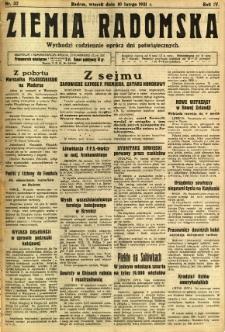 Ziemia Radomska, 1931, R. 4, nr 32