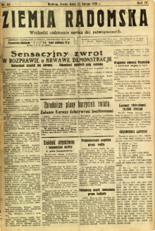 Ziemia Radomska, 1931, R. 4, nr 33
