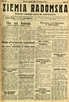 Ziemia Radomska, 1931, R. 4, nr 35