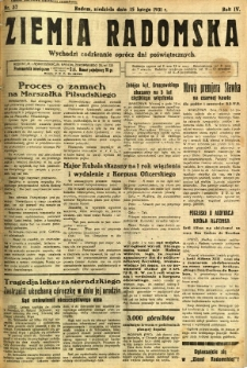 Ziemia Radomska, 1931, R. 4, nr 37