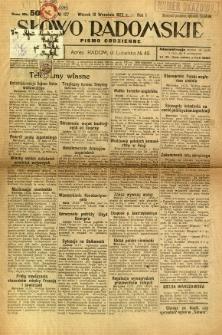 Słowo Radomskie, 1922, R. 1, nr 127