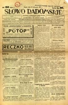 Słowo Radomskie, 1922, R. 1, nr 168