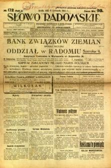 Słowo Radomskie, 1922, R. 1, nr 172