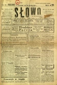 Słowo, 1924, R. 3, nr 20