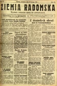 Ziemia Radomska, 1931, R. 4, nr 43