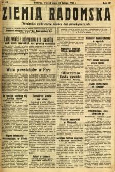 Ziemia Radomska, 1931, R. 4, nr 44