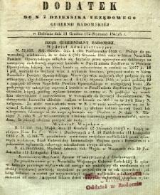 Dziennik Urzędowy Gubernii Radomskiej, 1845, nr 2, dod. I