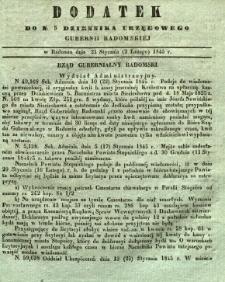 Dziennik Urzędowy Gubernii Radomskiej, 1845, nr 5, dod. I