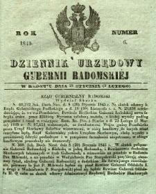 Dziennik Urzędowy Gubernii Radomskiej, 1845, nr 6