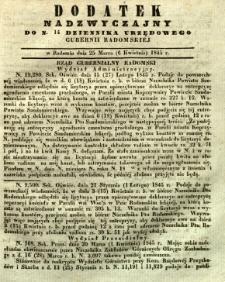 Dziennik Urzędowy Gubernii Radomskiej, 1845, nr 14, dod. I
