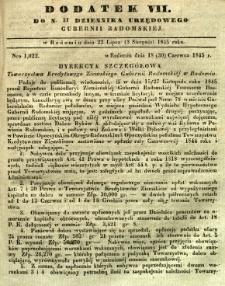 Dziennik Urzędowy Gubernii Radomskiej, 1845, nr 31, dod. VII
