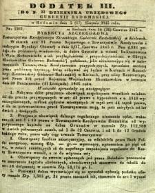Dziennik Urzędowy Gubernii Radomskiej, 1845, nr 33, dod. III