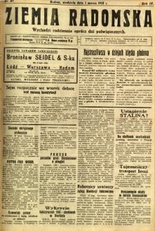 Ziemia Radomska, 1931, R. 4, nr 49
