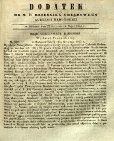 Dziennik Urzędowy Gubernii Radomskiej, 1845, nr 18, dod. I