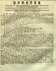 Dziennik Urzędowy Gubernii Radomskiej, 1845, nr 18, dod. II