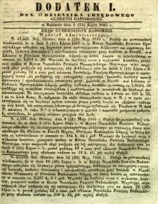 Dziennik Urzędowy Gubernii Radomskiej, 1845, nr 28, dod. I