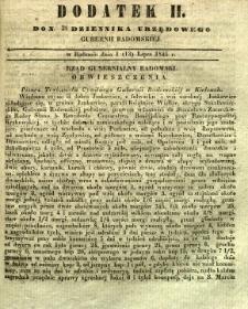 Dziennik Urzędowy Gubernii Radomskiej, 1845, nr 28, dod. II