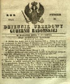 Dziennik Urzędowy Gubernii Radomskiej, 1845, nr 30