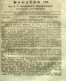 Dziennik Urzędowy Gubernii Radomskiej, 1845, nr 35, dod. III