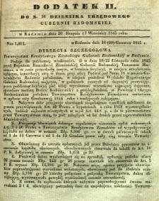 Dziennik Urzędowy Gubernii Radomskiej, 1845, nr 36, dod. II