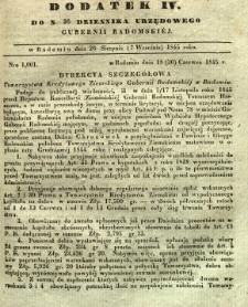 Dziennik Urzędowy Gubernii Radomskiej, 1845, nr 36, dod. IV