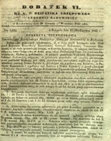 Dziennik Urzędowy Gubernii Radomskiej, 1845, nr 36, dod. VI