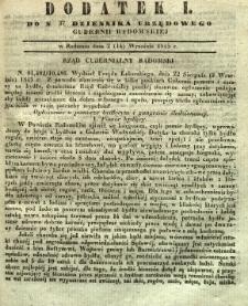 Dziennik Urzędowy Gubernii Radomskiej, 1845, nr 37, dod. I