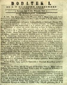Dziennik Urzędowy Gubernii Radomskiej, 1845, nr 38, dod. I