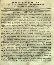 Dziennik Urzędowy Gubernii Radomskiej, 1845, nr 38, dod. IV