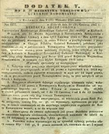 Dziennik Urzędowy Gubernii Radomskiej, 1845, nr 38, dod. V
