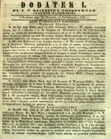 Dziennik Urzędowy Gubernii Radomskiej, 1845, nr 40, dod. I