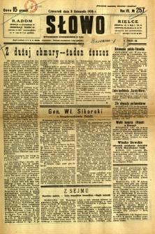 Słowo, 1928, R. 7, nr 257