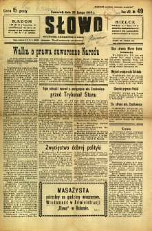 Słowo, 1929, R. 8, nr 49