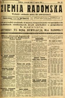Ziemia Radomska, 1931, R. 4, nr 58