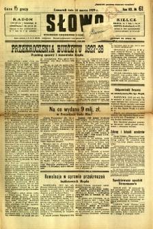 Słowo, 1929, R. 8, nr 61