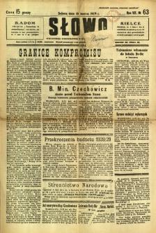 Słowo, 1929, R. 8, nr 63