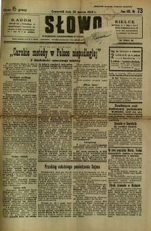 Słowo, 1929, R. 8, nr 73